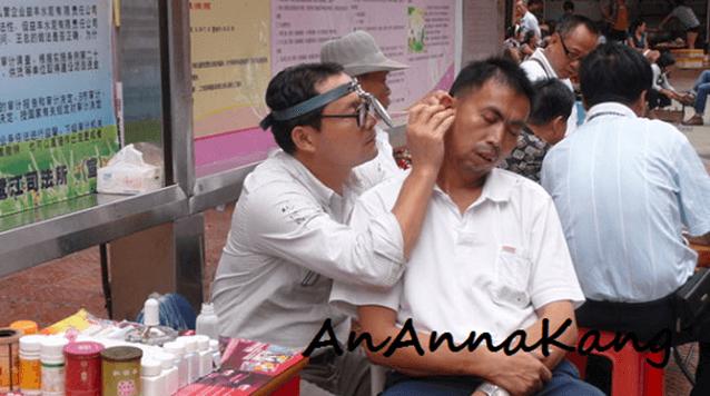 Uliczne czyszczenie uszu