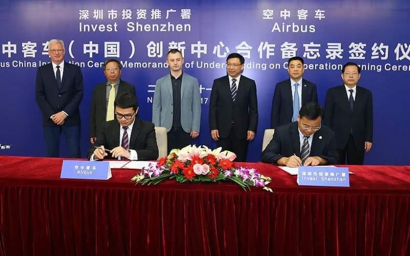 Centrum Innowacji Airbus w Shenzhen Chiny