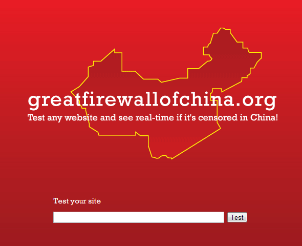 strona internetowa w Chinach