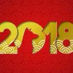 Chiński nowy rok 2018 rok psa