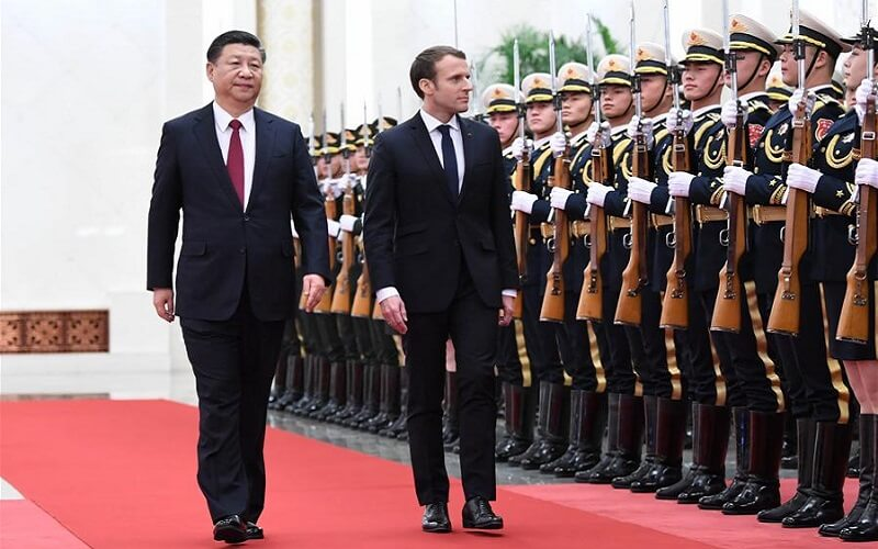 Emmanuel Macron w Chinach