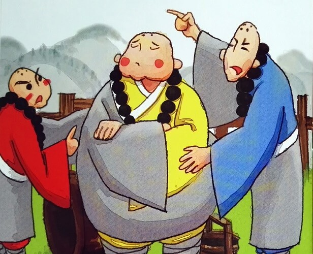 Kłótnia trzech mnichów