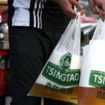 piwo w torbie foliowej