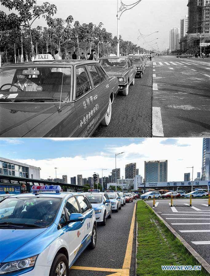 Taksówki i te nowe, elektryczne