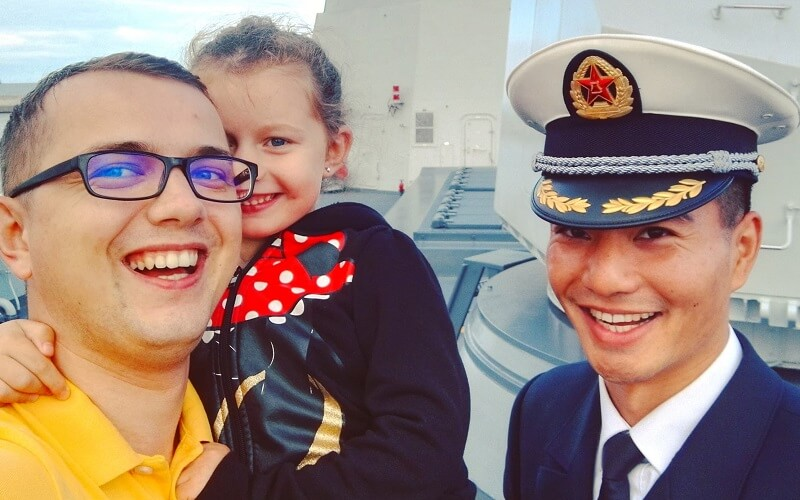 wizyta na chińskim okręcie
