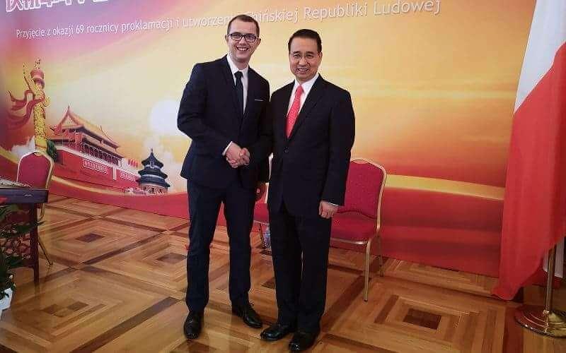 Moje wspólne zdjęcie z Ambasadorem ChRL