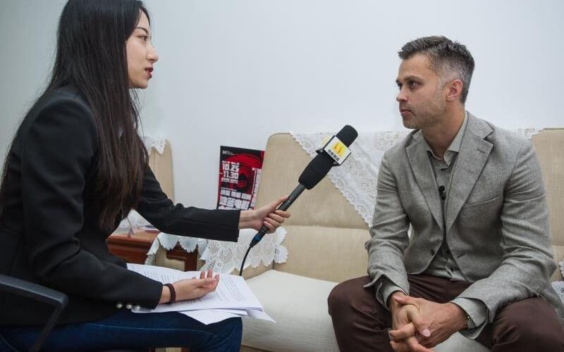 Wywiad dla CCTV
