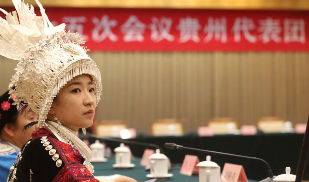 Przedstawicielka mniejszości Miao